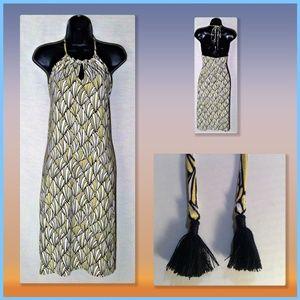 TOMMY BAHAMA Women's Junior Geometric Halter Dress